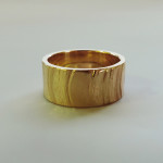 gold mens wedding band handmade