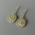 unique fun contemporary mixed metal earrings designed for women bridal party