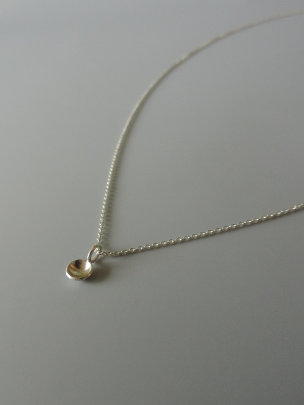 unique contemporary minimal design dainty sterling silver necklace hand made for women