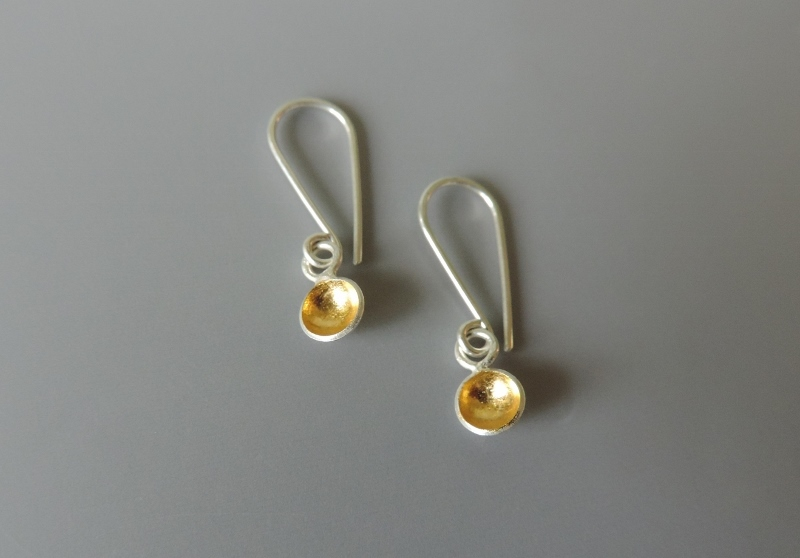 simple dainty mixed metal earrings designed for women bridal party gift