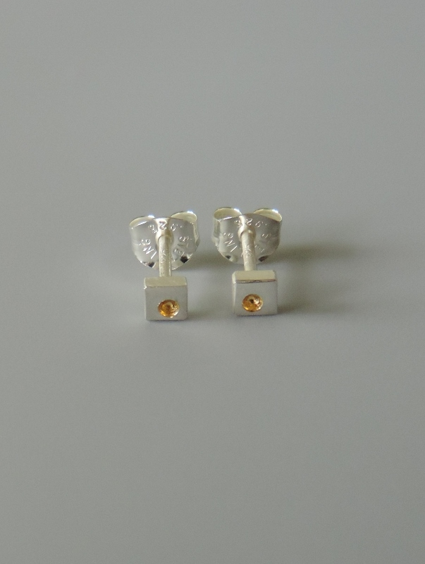 dainty mixed metal earrings hand crafted for women small earrings simple posts