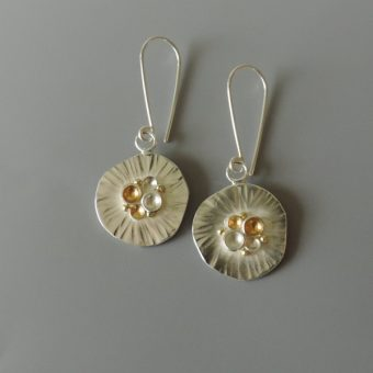 unique fun contemporary mixed metal earrings hand made for women bridal party
