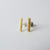 handmade bar studs silver gold mixed metal posts