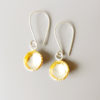 handmade silver gold textured mixed metal earrings