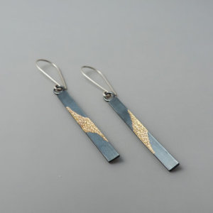unique sterling silver and gold mixed metal earrings designed for women
