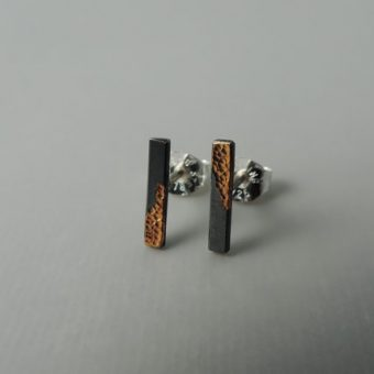 modern sterling silver and gold mixed metal earrings designed for women.