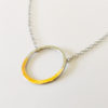 simple hoop necklace handmade silver gold women