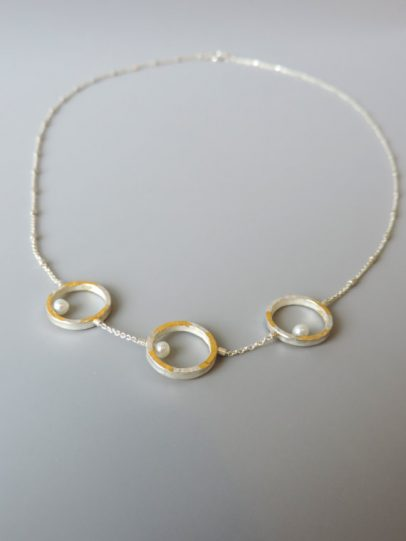 unique sterling silver pearl necklace for women