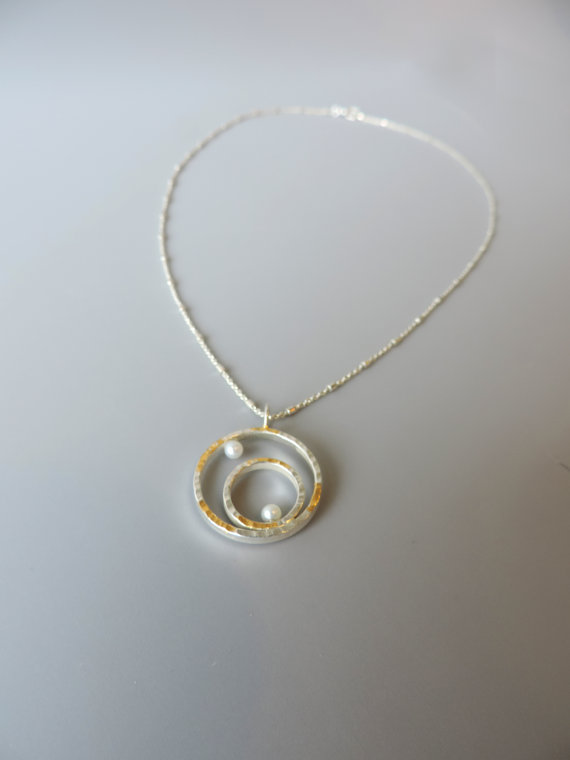 Unique and elegant sterling silver necklace for brides and bridesmaids