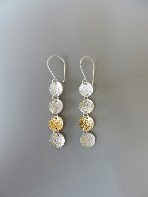 unique sterling silver and gold dainty earrings for women