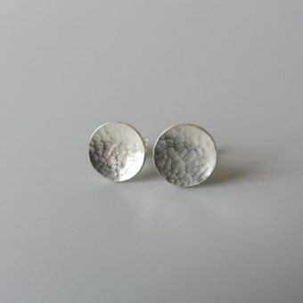 Unique handmade sterling silver earrings handcrafted simple earrings for women