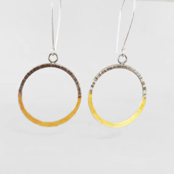 simple hoop earrings handmade silver gold women