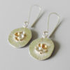 handcrafted silver gold mixed metal earrings everyday wear