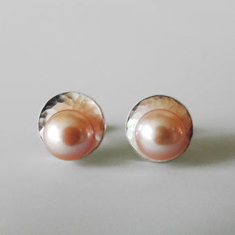 simple pink pearl jewelry handmade women