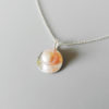 classic pink pearl silver necklace women