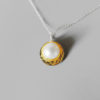 classic pearl necklace gold women