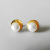 gold pearl jewelry handmade simple earrings women