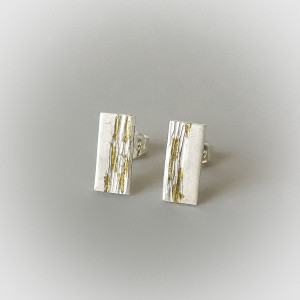 Contemporary and minimally designed post earrings handmade for women bridal jewelry