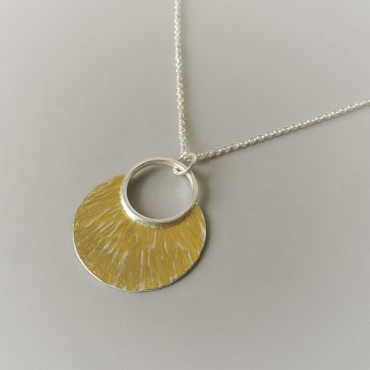 Long layered handmade necklace designed for women sterling silver and gold necklace designed for the bride
