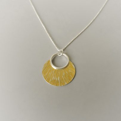 An elegant and classic necklace hand made for women sterling silver and gold mixed metal necklace for the bride or bridesmaids