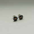 dark metal mixed metals silver and gold earrings hand made for women