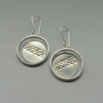silver and gold mixed metal hoops handmade for women designed for the bride