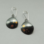 silver and gold mixed metal earrings hand made for women for every day wear