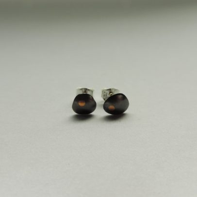 silver and gold dark metal earrings designed for women