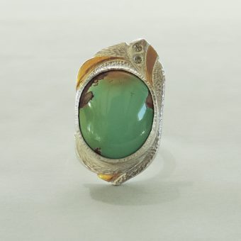 handmade one of a kind turquoise ring