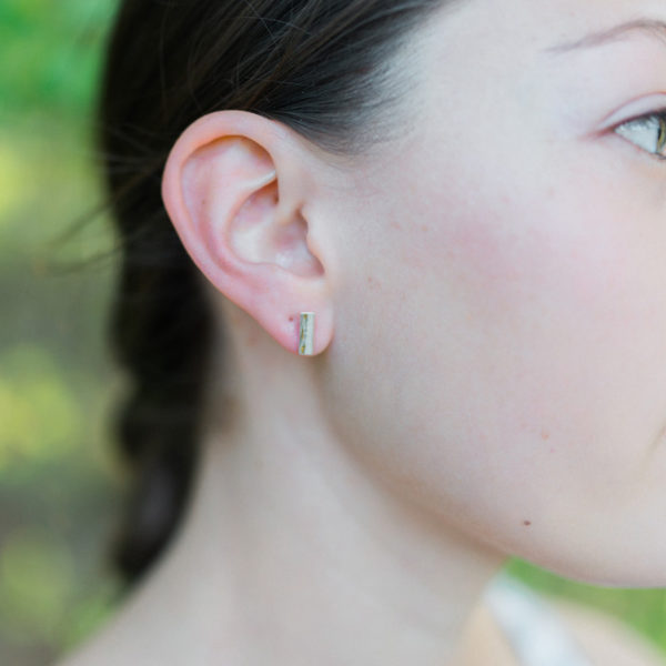 simple silver and gold posts handmade for women for everyday wear