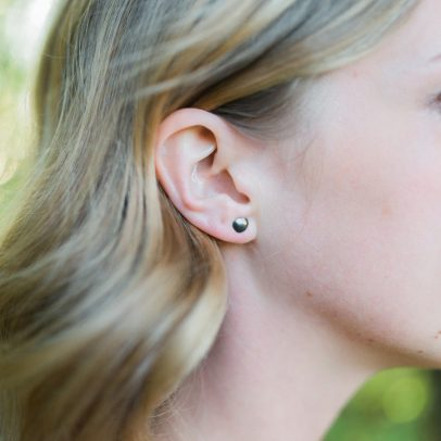 petite small posts handmade for women sterling silver and gold contemporary earrings