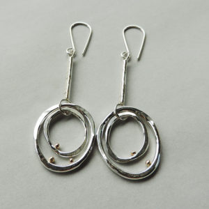 silver gold handcrafted earrings for women