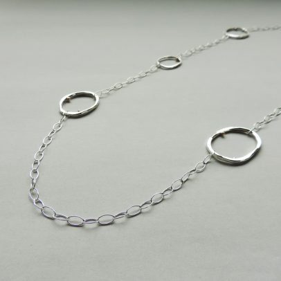 sterling silver gold necklace handcrafted everyday wear jewelry