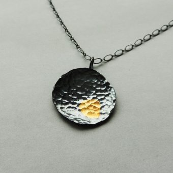 unique mixed metal silver and gold necklace handmade for women