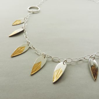sterling silver and gold handmade jewelry for women