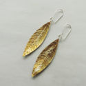 handmade silver and gold mixed metal earrings designed for women