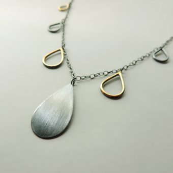 handmade silver gold necklace women funky unique