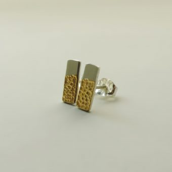 handmade silver gold earring posts women simple elegant