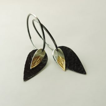 handmade silver gold hoops designed women