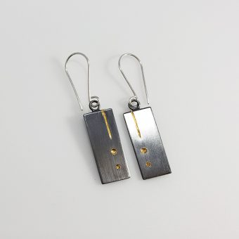 handmade silver gold mixed metal earrings women