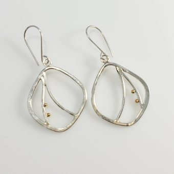 handmade silver and gold earrings women