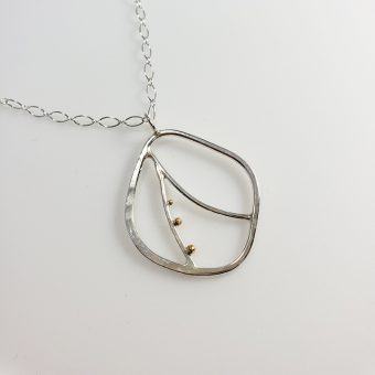 handcrafted silver gold necklace designed women