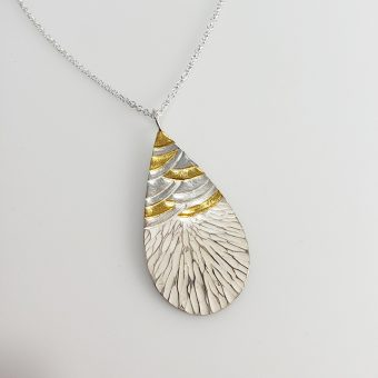 handmade silver gold mixed metal necklace designed women