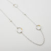 modern elegant pearl necklace