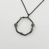 handmade geometric dark silver necklace