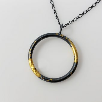 handmade two tone necklace modern contemporary