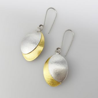 handmade silver gold two tone earrings bridal women