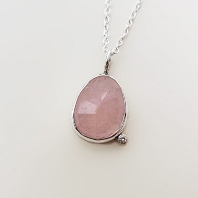 Accent Necklace Morganite