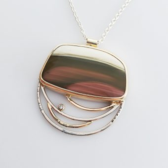 painted hills custom jasper necklace by McKenzie Mendel at her Bend Oregon jewelry store